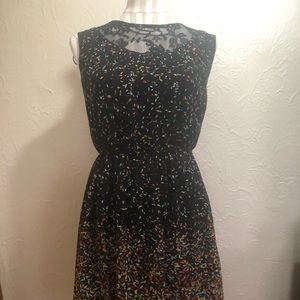 Confetti print dress